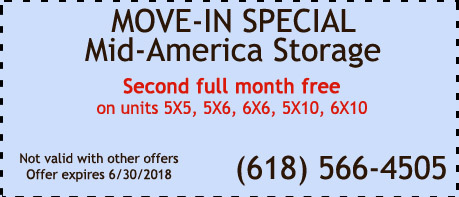 Move In Special Coupon for Belleville Storage Center in Belleville Illinois